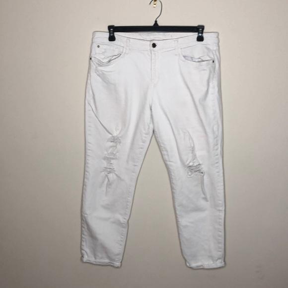 Joe's Jeans Denim - Joe's jeans white distressed stretch denim 32
